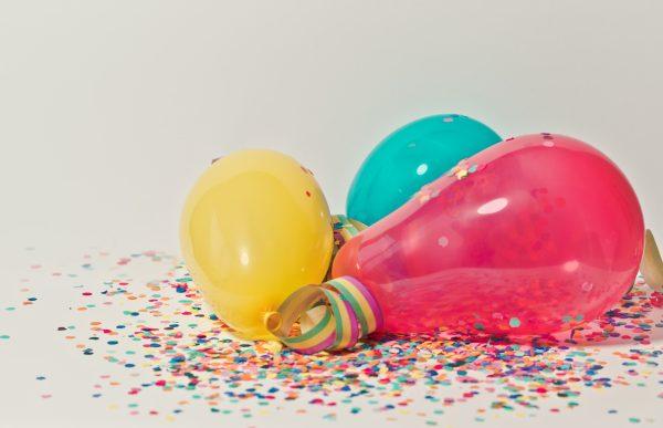 globos de una fiesta de cumpleaños